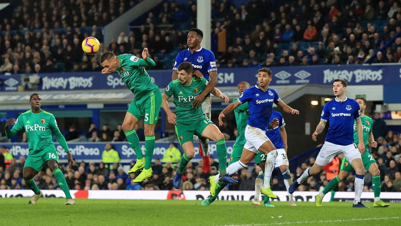 Digne's last-gasp free kick earns Everton 2-2 draw v Watford