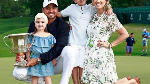 <p>               FILE - In this May 6, 2018, file photo, Jason Day poses with, from left to right, his daughter Lucy, son Dash and wife Ellie after winning the Wells Fargo Championship golf tournament at Quail Hollow Club in Charlotte, N.C. Day says he wants to get back to No. 1 and still devote time to his family. (AP Photo/Jason E. Miczek, File)             </p>