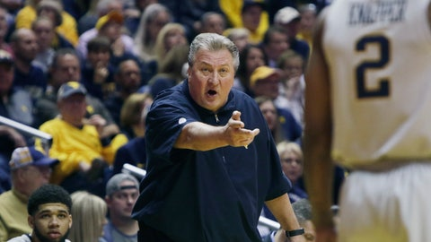 <p>               West Virginia head coach Bob Huggins yells at his players during the first half of an NCAA college basketball game Saturday against Youngstown State, Dec. 1, 2018, in Morgantown, W.Va. (AP Photo/Raymond Thompson)             </p>