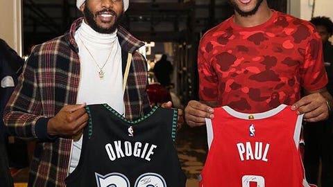 Chris Paul, Houston Rockets guard (via Wolves guard Josh Okogie)