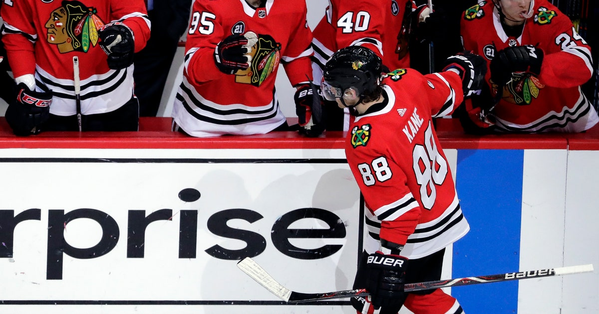 new style 24046 eaaab Kane gets hat trick to lift Blackhawks over Wild 5-2   FOX Sports