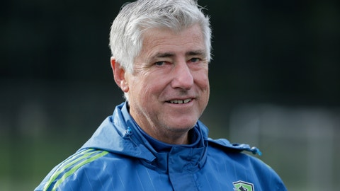 <p>               FILE - In this Oct. 27, 2015, file photo, Seattle Sounders coach Sigi Schmid walks off the field following an MLS soccer training session in Tukwila, Wash. Schmid, the winningest coach in MLS history, has died. He was 65. Schmid's family said he died Tuesday, Dec. 25, 2018, at Ronald Reagan UCLA Medical Center in Los Angeles. Schmid was hospitalized three weeks ago as he awaited a heart transplant. (AP Photo/Ted S. Warren, File)             </p>
