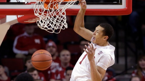 <p>               Nebraska's Amir Harris (1) dunks during the first half of an NCAA college basketball game against Illinois in Lincoln, Neb., Sunday, Dec. 2, 2018. (AP Photo/Nati Harnik)             </p>