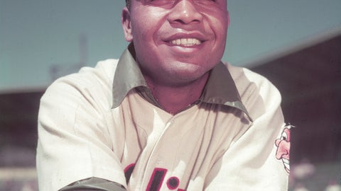 <p>               FILE - This March 1951 file photo shows Cleveland Indians' Larry Doby.  The Senate has passed legislation to honor former Doby with the Congressional Gold Medal. Ohio Sens. Sherrod Brown, a Cleveland Democrat, and Rob Portman, a Cincinnati-area Republican, recently announced passage. The bill awaits GOP President Donald Trump's signature. (AP Photo/file)             </p>