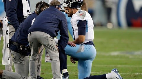 "<p>               FILE - In this Dec. 22, 2018 file photo Tennessee Titans quarterback Marcus Mariota is attended to after being injured in the first half of an NFL football game against the Washington Redskins in Nashville, Tenn. Mariota says he's doing ""everything in my power"" to be available Sunday night against Indianapolis with a playoff berth on the line for the winner. Mariota did not practice Wednesday, Dec. 26, 2018 and he also refused to detail what symptoms he's still dealing with after being hurt on a sack late in the first half of Tennessee's win over Washington last weekend. (AP Photo/James Kenney)             </p>"