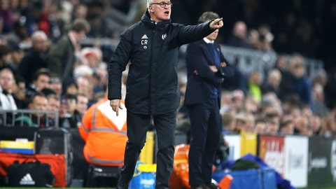 <p>               Fulham manager Claudio Ranieri during the match against Leicester City, during their English Premier League soccer match at Craven Cottage in London, Wednesday Dec. 5, 2018. (Steven Paston/PA via AP)             </p>