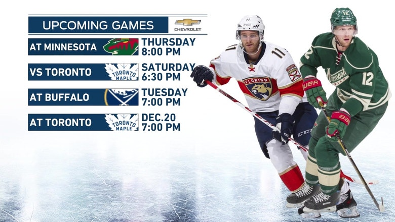 Panthers remain on the road to take on the Wild