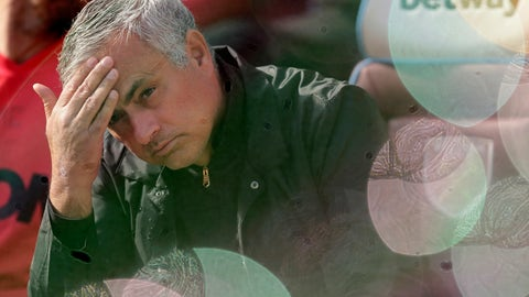 <p>               FILE - In this Saturday, Sept. 29, 2018 file photo Manchester United manager Jose Mourinho, seen through foam bubbles, wipes his forehead prior the English Premier League soccer match between West Ham United and Manchester United at London Stadium in London in London, England. Manchester United says Jose Mourinho has left the Premier League club with immediate effect. The decision was announced Tuesday Dec. 19, 2018, two days after a 3-1 loss to Liverpool left United 19 points off the top of the Premier League after 17 games.(AP Photo/Tim Ireland, File)             </p>