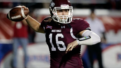 <p>               Morningside quarterback Trent Solsma throws a pass against Benedictine during the first half of the NAIA Championship college football game, Saturday, Dec. 15, 2018, in Daytona Beach, Fla. (AP Photo/John Raoux)             </p>
