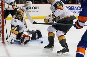 Nosek's goal in 3rd helps Golden Knights beat Islanders 3-2