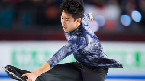 <p>               Nathan Chen, of the United States, skates during the men's free skate at figure skating's Grand Prix Final in Vancouver, British Columbia, Friday, Dec. 7, 2018. (Jonathan Hayward/The Canadian Press via AP)             </p>