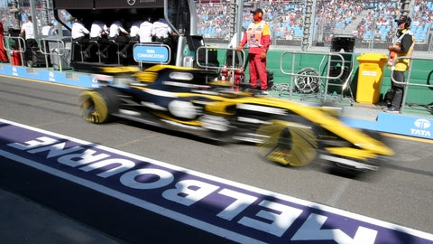 <p>               FILE - In this file photo dated, Friday, March 23, 2018, a Renault car drives down pit lane during the first practice session at the Australian Formula One Grand Prix in Melbourne.  Formula One's 21-race calendar for the 2019 season has been approved by the governing body FIA, with Melbourne as usual hosting the season-opening Australian Grand Prix at Albert Park on upcoming March 17, 2019. (AP Photo/Rick Rycroft, FILE)             </p>