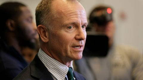 <p>               New York Jets owner Christopher Johnson speaks to reporters in Florham Park, N.J., Monday, Dec. 31, 2018. After firing Todd Bowles on Sunday night, the New York Jets are focused on bringing in someone who will be able to lead a franchise that has missed the playoffs for eight straight seasons but has a promising young quarterback in Sam Darnold and expects to be busy in free agency this offseason. (AP Photo/Seth Wenig)             </p>