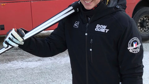 <p>               Czech Republic's Ester Ledecka leaves after the second training session of a women's World Cup Downhill, in Val Gardena, Italy, Monday, Dec. 17, 2018. Olympic skiing and snowboarding gold medalist Ester Ledecka led the second training session Monday for a World Cup downhill by a comfortable margin. (AP Photo/Andrew Dampf)             </p>