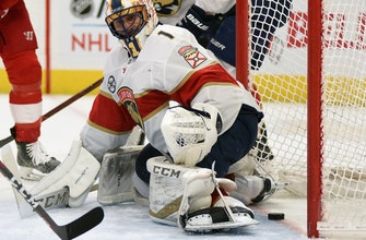 Panthers, behind Luongo's 33 saves, beat Red Wings 2-1