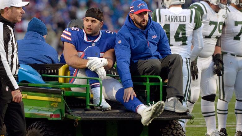 Bills linebacker Matt Milano out with broken left leg