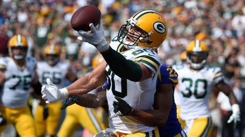 "<p>               FILE - In this Oct. 28, 2018, file photo, Green Bay Packers tight end Jimmy Graham (80) can't make the catch as Los Angeles Rams cornerback Marcus Peters (22) defends during the first half of an NFL football game, in Los Angeles. Whether it was earlier in his career at New Orleans or the past few seasons in Seattle, two things were common for tight end Jimmy Graham: production and victories. Both are in short supply in his first season with the Green Bay Packers. My numbers suck,"" Graham said Friday, Dec. 14, 2018. (AP Photo/Denis Poroy, File)             </p>"
