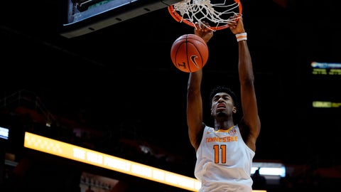 <p>               Tennessee forward Kyle Alexander dunks the ball in the first half of an NCAA college basketball game against Texas A&M Corpus Christ,i Sunday, Dec. 2, 2018, in Knoxville, Tenn. (AP Photo/Shawn Millsaps)             </p>