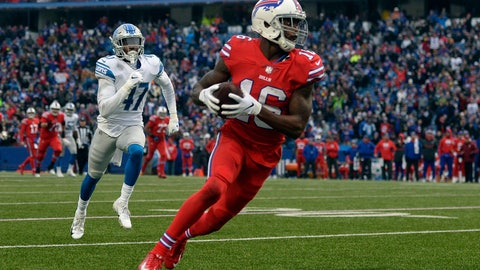 <p>               Buffalo Bills wide receiver Robert Foster (16) runs toward the end zone for a 42-yard touchdown during the second half of an NFL football game against the Detroit Lions, Sunday, Dec. 16, 2018, in Orchard Park, N.Y. (AP Photo/Adrian Kraus)             </p>