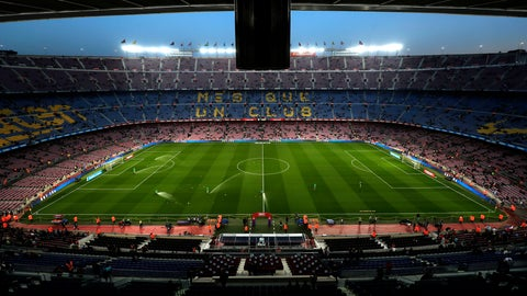 <p>               A general view of the Camp Nou stadium prior of the Spanish La Liga soccer match between FC Barcelona and Celta Vigo at the Camp Nou stadium in Barcelona, Spain, Saturday, Dec. 22, 2018. (AP Photo/Manu Fernandez)             </p>