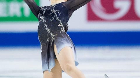 <p>               Rika Kihira, of Japan, skates during the ladies free skate at the Grand Prix of Figure Skating finals in Vancouver, British Columbia, Saturday, Dec. 8, 2018. (Jonathan Hayward/The Canadian Press via AP)             </p>