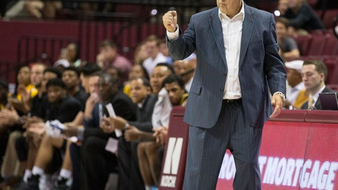 <p>               File-This Dec. 21, 2017, file photo shows  Southern Miss head coach Doc Sadler pumping his fist after a score in the first half of an NCAA college basketball game against Florida State in Tallahassee, Fla. Frustrated mid-major conference officials are taking drastic action they hope will nudge the selection pendulum in their direction when it comes to NCAA Tournament at-large invitations and seeding. Leading the way is Conference USA, which has dumped a conventional league schedule in favor of a revolutionary one based on results. C-USA's 14 teams won't know who they'll be playing during the final two weeks of the regular season until mid-February, when the standings will determine the final matchups. The move is to ensure the league's best teams are playing each other in hopes of improving their tournament profiles. (AP Photo/Mark Wallheiser, File)             </p>