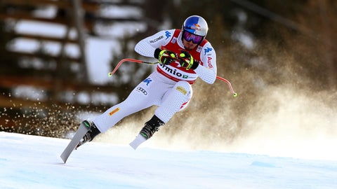 <p>               Italy's Dominik Paris speeds down the course during a ski World Cup Men's Downhill in Bormio, Italy, Friday, Dec.28, 2018. (AP Photo/Alessandro Trovati)             </p>