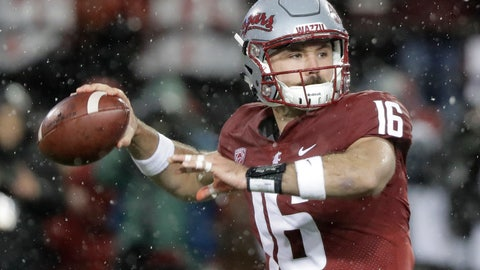 <p>               FILE - In this Nov. 23, 2018, file photo, Washington State quarterback Gardner Minshew passes against Washington during the first half of an NCAA college football game in Pullman, Wash. Minshew was named the Pac-12 offensive player of the year and the newcomer of the year Thursday, Dec. 6, 2018. (AP Photo/Ted S. Warren, File)             </p>