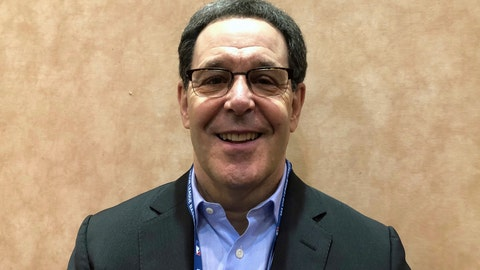 <p>               Jayson Stark smiles at the baseball winter meetings in Las Vegas, Tuesday, Dec. 11, 2018. Stark, acclaimed for mixing humor with impeccable knowledge during more than four decades of commentary, has won the J.G. Taylor Spink Award for meritorious contributions to baseball writing. He will be honored during the Hall of Fame's induction weekend from July 19-22 in Cooperstown, New York. (AP Photo/Janie McCauley)             </p>