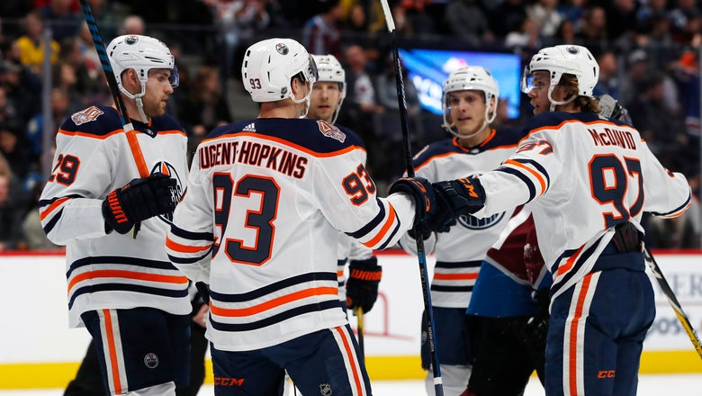 Nugent-Hopkins scores twice to help Oilers beat Avs 6-4