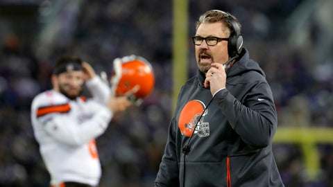 <p>               Cleveland Browns head coach Gregg Williams walks on the sideline in the second half of an NFL football game against the Baltimore Ravens, Sunday, Dec. 30, 2018, in Baltimore. (AP Photo/Carolyn Kaster)             </p>