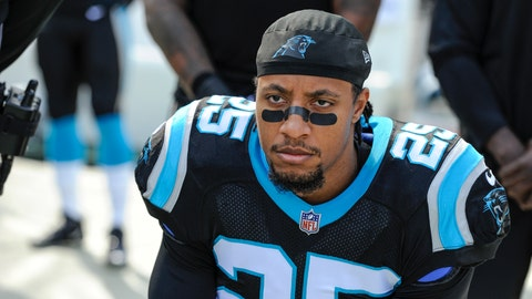 "<p>               FILE - In this Nov. 25, 2018, file photo, Carolina Panthers strong safety Eric Reid (25) knells along the sideline during the national aAnthem before the start of an NFL football game against the Seattle Seahawks in Charlotte, N.C. Reid says he is ""not surprised"" he has been drug tested by the NFL six times in the past 11 weeks, his Panthers teammates and coaches are growing increasingly annoyed at the frequency of the league's ""random"" policy. (AP Photo/Mike McCarn, File)             </p>"