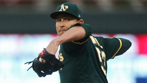 <p>               FILE - In this Aug. 23, 2018, file photo, Oakland Athletics pitcher Trevor Cahill throws against the Minnesota Twins in the first inning of a baseball game in Minneapolis. The Los Angeles Angels have added to their pitching staff, agreeing to a $9 million, one-year deal with Cahill. (AP Photo/Jim Mone, File)             </p>