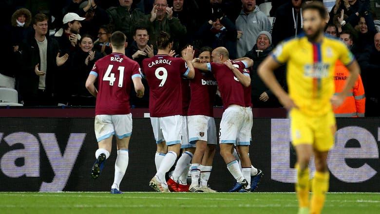 West Ham scores 3 second-half goals to beat Palace 3-2