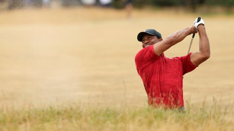 <p>               FILE - In this July 22, 2018, file photo, Tiger Woods of the U.S. plays out of a bunker on the 10th hole during the final round for the 147th British Open Golf championships in Carnoustie, Scotland. Woods considers this his most memorable shot of the year. (AP Photo/Peter Morrison, File)             </p>