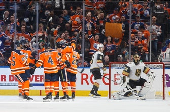 Spooner scores first goal with Oilers in 2-1 win over Vegas