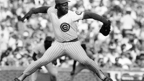 <p>               FILE - In this Dec. 8, 1987, file photo, Chicago Cubs relief pitcher Lee Smith works against the San Francisco Giants during a baseball game, in Chicago. Longtime closer Smith was elected to the baseball Hall of Fame on Sunday, Dec. 9, 2018. (AP Photo/Bob Fila, File)             </p>