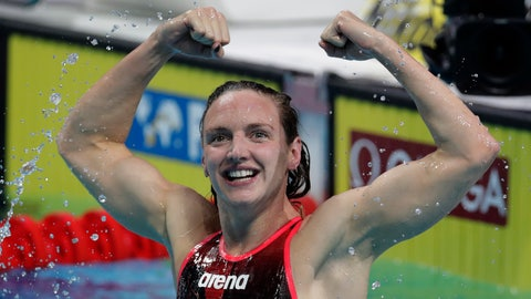 <p>               FILE - In this Sunday, July 30, 2017 file photo, Hungary's Katinka Hosszu celebrates after winning the gold medal in the women's 400-meter individual medley final during the swimming competitions of the World Aquatics Championships in Budapest, Hungary. Three Olympic and world champion swimmers have filed an anti-trust suit in California challenging governing body FINA's control of organizing competitions, it was announced Saturday, Dec. 8, 2018. The legal action by Hungarian great Katinka Hosszu and Americans Tom Shields and Michael Andrew follows Switzerland-based FINA shutting down an independent meet in Italy with threats to ban competitors. (AP Photo/Michael Sohn, file)             </p>
