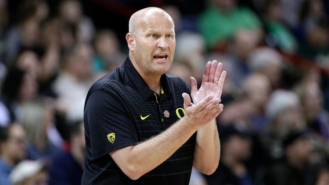 <p>               FILE - In this Monday, March 26, 2018, file photo, Oregon head coach Kelly Graves encourages his team during the second half in a regional final at the NCAA college basketball tournament against Notre Dame, in Spokane, Wash. While Graves sat out Oregon's wins over Air Force and UC Irvine to serve a suspension for NCAA violations, his team had no problem continuing to win. (AP Photo/Young Kwak, File)             </p>