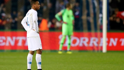 <p>               United States' Tyler Adams walks on the pitch at the end of the international friendly soccer match between Italy and the United States, at the Cristal Arena in Genk, Belgium, Tuesday, Nov. 20, 2018. Italy won 1-0. (AP Photo/Francisco Seco)             </p>