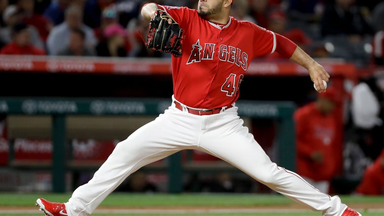 Phillies get lefty Alvarez from Angels for righty Garcia