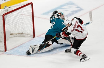 Galchenyuk leads Coyotes past Sharks 4-3 in shootout