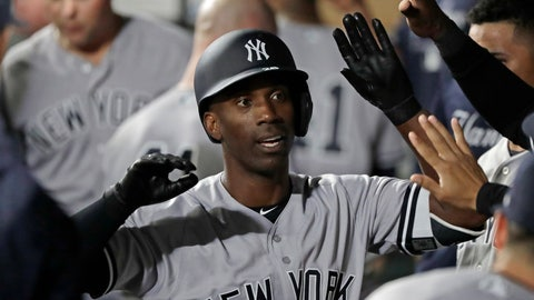 <p>               FILE - In this Sept. 7, 2018, file photo, New York Yankees' Andrew McCutchen is greeted in the dugout after he hit a two-run home run during the third inning of a baseball game against the Seattle Mariners, in Seattle. A person familiar with the negotiations tells The Associated Press that All-Star outfielder Andrew McCutchen and the Philadelphia Phillies have agreed to a $50 million three-year contract. The person spoke on condition of anonymity Tuesday, Dec. 11, 2018, because the agreement, which includes a club option for 2022, is subject to a successful physical.(AP Photo/Ted S. Warren, File)             </p>