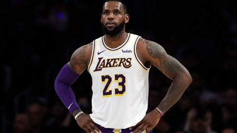 """<p>               FILE - In this Dec. 23, 2018, file photo, Los Angeles Lakers' LeBron James stands during the first half of an NBA basketball game against the Memphis Grizzlies in Los Angeles. James is sorry for posting a lyric that referenced """"Jewish money."""" The Los Angeles Lakers star says he simply got caught up in the music, thought the lyric was a """"compliment"""" and offers """"apologies, for sure."""" The lyric comes from the song """"ASMR"""" by rapper 21 Savage. (AP Photo/Marcio Jose Sanchez, File)             </p>"""