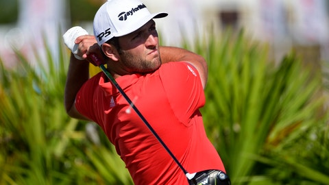 <p>               Spain's Jon Rahm hits from the fourth tee during the last round of the Hero World Challenge at Albany Golf Club in Nassau, Bahamas, Sunday, Dec. 2, 2018. (AP Photo/Dante Carrer)             </p>