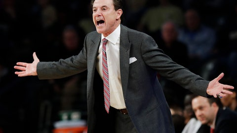 <p>               FILE -In this Jan. 7, 2017, file photo, Louisville head coach Rick Pitino reacts on the sideline during the first half of an NCAA college basketball game against Georgia Tech in Atlanta. Pitino has won his first game in Greece, lifting troubled Panathinaikos to a win Friday, Dec. 28, 2018, over CSKA Moscow in Europe's main competition. The victory comes two days after he arrived in Athens to take over the club. (AP Photo/David Goldman, File)             </p>