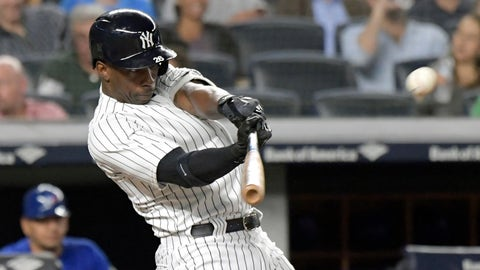 <p>               FILE - In this Sept. 14, 2018, file photo, New York Yankees' Andrew McCutchen hits a home run during the fifth inning of a baseball game against the Toronto Blue Jays, at Yankee Stadium in New York. A person familiar with the negotiations tells The Associated Press that All-Star outfielder Andrew McCutchen and the Philadelphia Phillies have agreed to a $50 million three-year contract. The person spoke on condition of anonymity Tuesday, Dec. 11, 2018, because the agreement, which includes a club option for 2022, is subject to a successful physical.(AP Photo/Bill Kostroun, File)             </p>