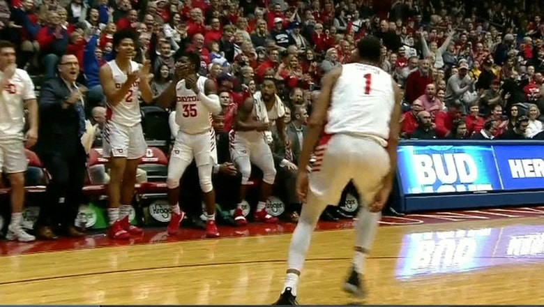 Dayton's Obi Toppin pulls off through-the-legs dunk in win over Georgia Southern