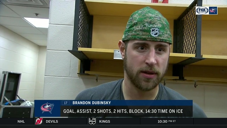 Brandon Dubinsky looks to reverse the Jackets recent trend of losing leads late in games