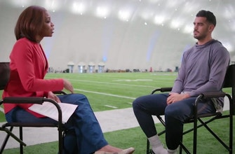Kristina Pink sits down with Marcus Mariota to talk team chemistry and head coach Mike Vrabel